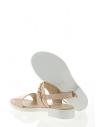 39224 Kadın Sandalet Pudra Rugan Deri