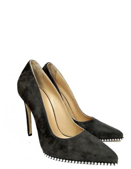 Angel Kadın Topuklu Ayakkabı Haki Süet Deri