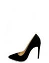 Angel Kadın Topuklu Ayakkabı Siyah Süet Deri
