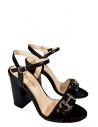 39310 Kadın Topuklu Sandalet Siyah Deri
