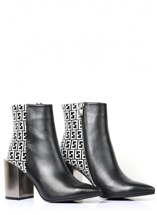 Freda Kadın Topuklu Bot Siyah Deri