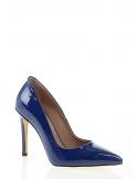 Adalyn Kadın Topuklu Ayakkabı Mavi Rugan Deri