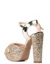 Bride Kadın Platfrom Topuklu Ayakkabı Altın Taşlı