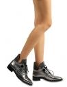 Naomi Kadın Bağcıklı Bot Siyah Deri