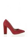Adela Kadın Topuklu Ayakkabı Bordo Süet