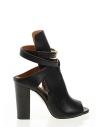 Hazel Kadın Topuklu Sandalet Siyah Deri