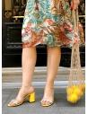 Alina Kadın Topuklu Terlik Sarı